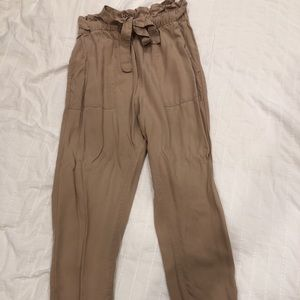 H&M beige highwaist pants